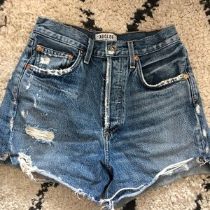 Agolde Shorts - Agolde High Waisted Jean Shorts 26